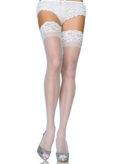 Leg Avenue sheer Lace Top halterlose Strümpfe