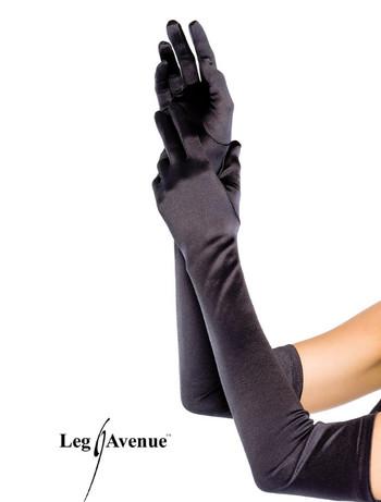 Leg Avenue Extra Long Satin Handschuhe, im Nylon und Strumpfhosen Shop
