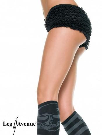 Leg Avenue Micromesh-Tangashorts mit Spitzenrüschen schwarz