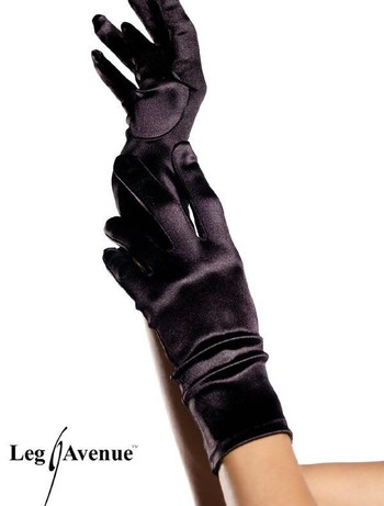 Leg Avenue Satin Wrist Length Handschuhe, im Nylon und Strumpfhosen Shop