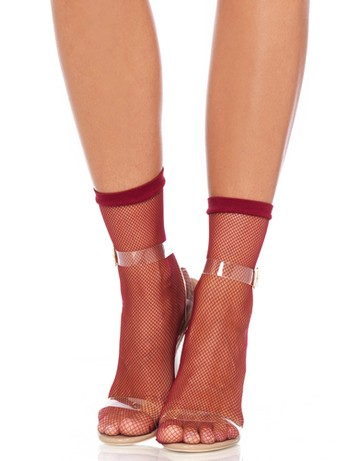 Leg Avenue Fishnet Söckchen burgundy