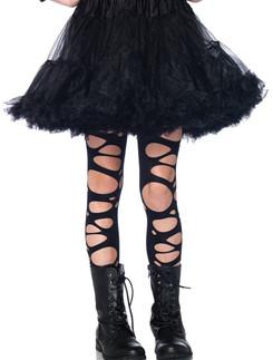 Leg Avenue Girl's Strumpfhose im Riss-Design