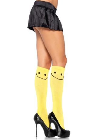 Leg Avenue Happy Face Kniestruempfe, im Nylon und Strumpfhosen Shop