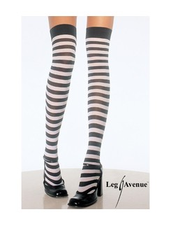 Leg Avenue Plus Size geringelte Overknees