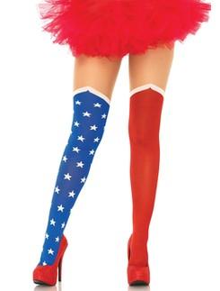 Leg Avenue Hero Strumpfhose im Overknee-Look