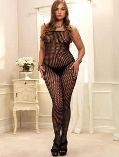 Leg Avenue  L/XL Crochet Netz Bodystocking