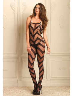 Leg Avenue Chevron Bodystocking