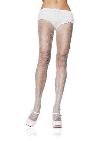 Leg Avenue Plus Size feinmaschige Strumpfhose weiss