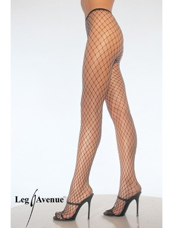 Leg Avenue Diamond Netzstrumpfhose schwarz