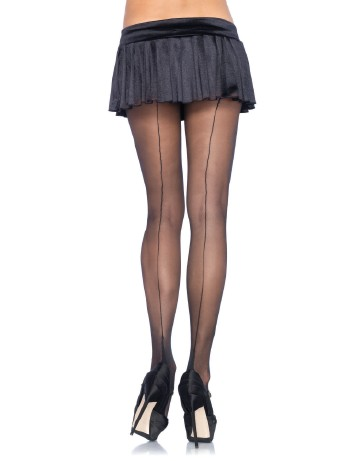 Leg Avenue 15 Plus Size Cuban Heel Strumpfhose schwarz