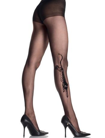 Leg Avenue Tiger Tattoo Strumpfhose, im Nylon und Strumpfhosen Shop