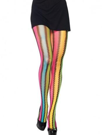Leg Avenue Rainbow Zickzack Strumpfhose, im Nylon und Strumpfhosen Shop