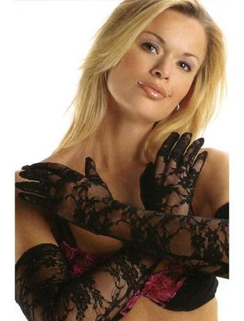 Leg Avenue Lange Handschuhe aus Spitze, im Nylon und Strumpfhosen Shop