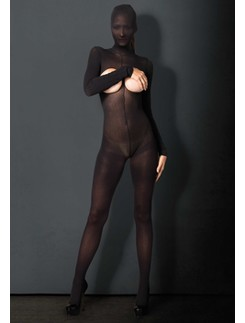 Leg Avenue Kink Hooded Ouvert Bodystocking mit Kapuze