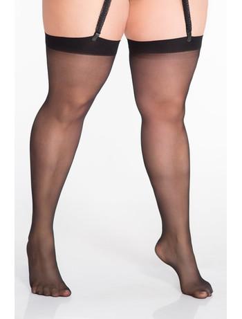 Lida Strapsstrümpfe Schenkelumfang bis 95cm schwarz