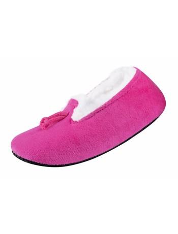 Nur Die Mokassin Hausschuh Socke pink