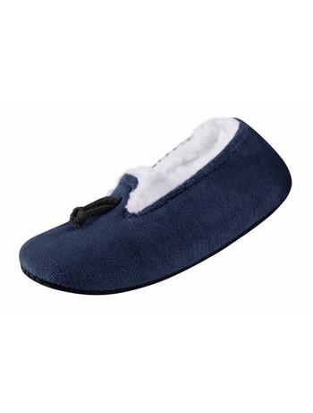 Nur Die Mokassin Hausschuh Socke royalblau