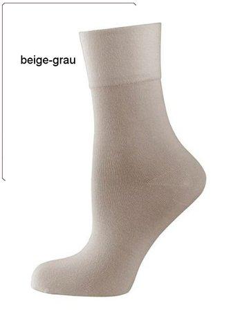 Nur Die feine Komfort Socke beige grau