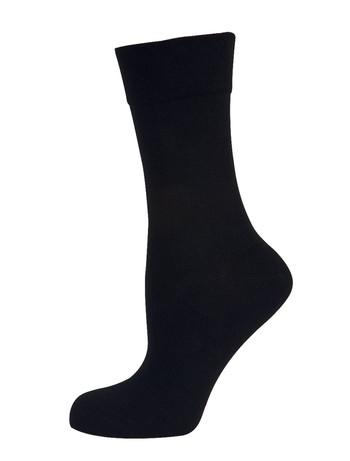 Nur Die Cotton Maxx Komfort Socke schwarz