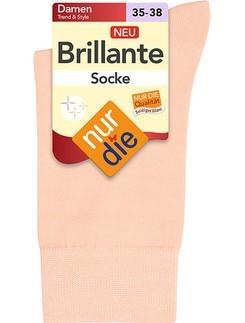 Nur Die Brillante Socke edle Farben mit Glanz