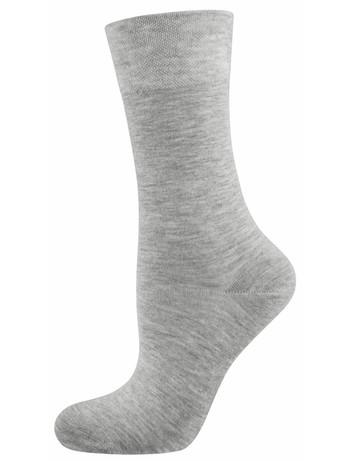 Nur Die Pflegende Komfort Socke hellgrau meliert