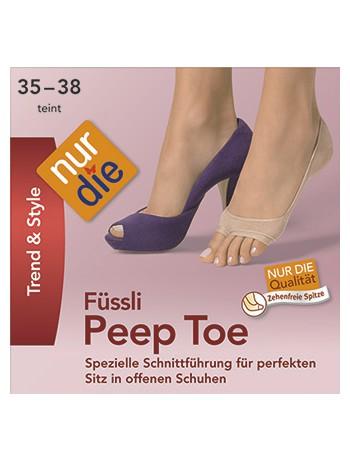 Nur Die Trend & Style Peep Toe Fuesslinge, im Nylon und Strumpfhosen Shop