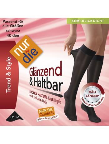 Nur Die Knie Glaenzend & Haltbar 40 Kniestrumpf, im Nylon und Strumpfhosen Shop