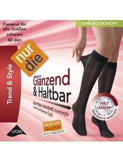 Nur Die Knie Glänzend & Haltbar 40 Kniestrumpf