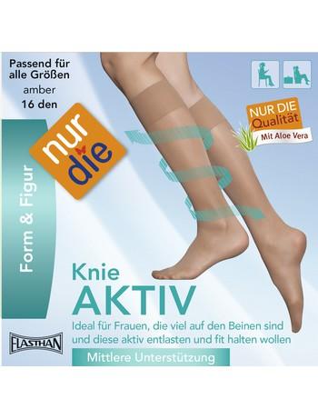Knie Aktiv stützende Feinkniestrümpfe