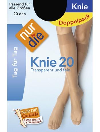 Nur Die Knie 20 Doppelpack, im Nylon und Strumpfhosen Shop