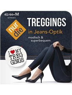 Nur Die Treggings Jeans-Optik Leggings