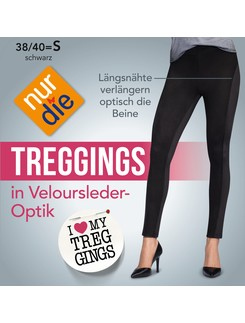 Nur Die Treggings in Velourleder-Optik