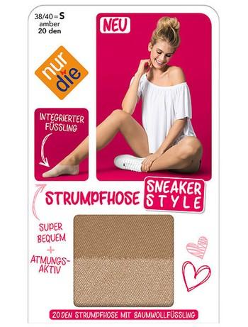 Nur Die Sneaker Style  Damen Strumpfhose 20 den mit Füssling