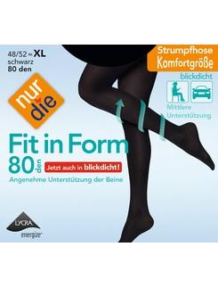 Nur Die Fit in Form 80 blickdichte Strumpfhose XL
