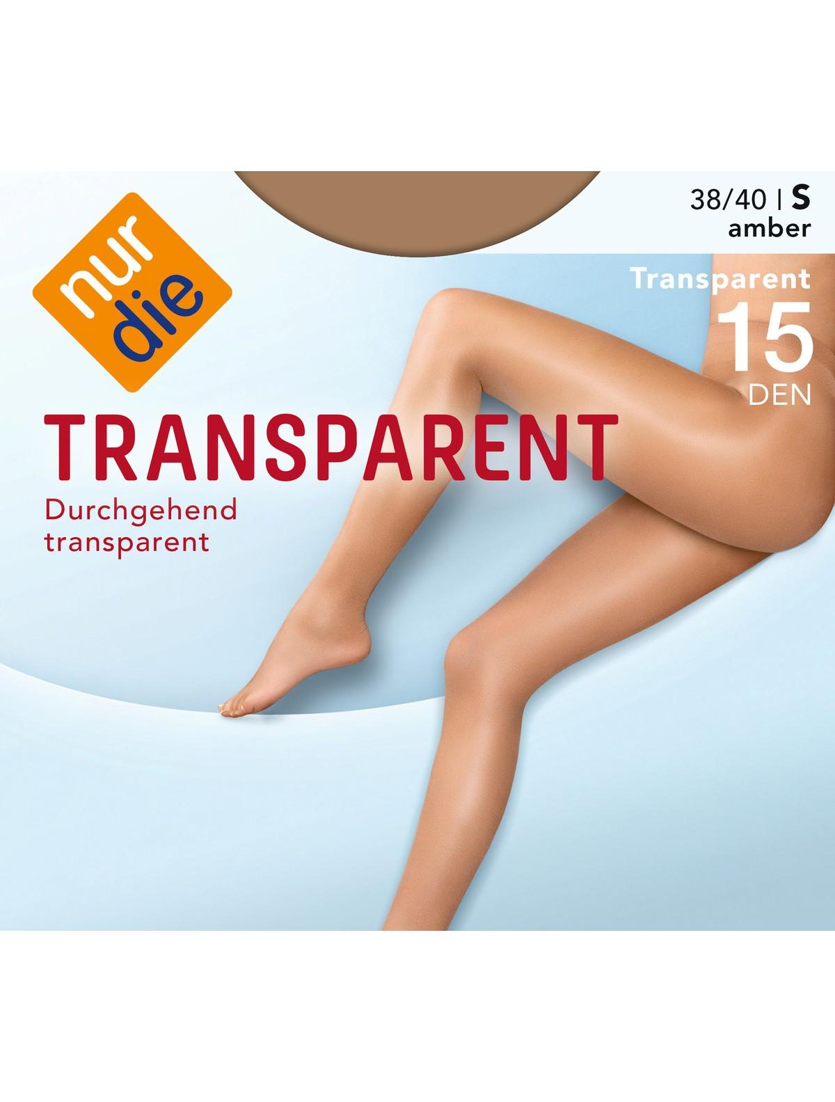 83991ac95141a3 Nur Die Transparent Strumpfhose - amber