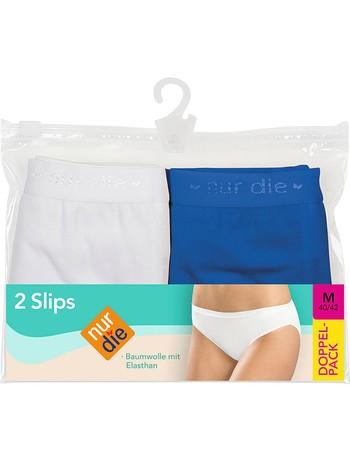 Nur Die Slip Doppelpack ozean/weiß