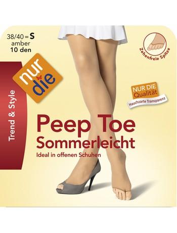 Nur Die Peep Toe Sommerleicht Strumpfhose, im Nylon und Strumpfhosen Shop
