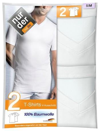 Nur Der Herren T-Shirt V-Ausschnitt Doppelpack 100% Cotton - broschei