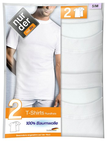 Nur Der Herren T-Shirt Rundhalsausschnitt Doppelpack 100% Cotton jetztbilligerkaufen
