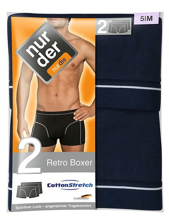Nur Der Herren Retro Boxer Doppelpack - broschei