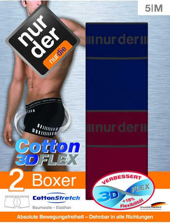 Nur Der 3D-Flex Classic Herren Boxer Slips im Doppelpack, im Nylon und Strumpfhosen Shop