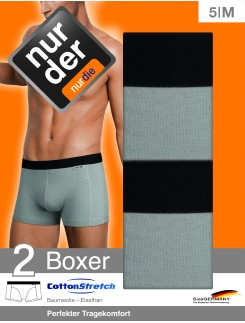 Nur Der Cotton Stretch Double Doppelpack Boxer Slips