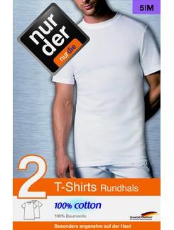 Nur Der T-Shirt 100% Cotton Rundhals im Doppelpack