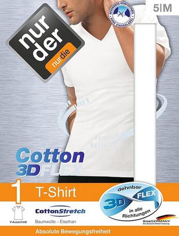 Nur Der T-Shirt 3D-Flex V-Ausschnitt, im Nylon und Strumpfhosen Shop