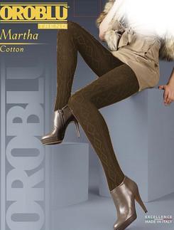 Oroblu Martha melierte Strickstrumpfhose mit Rautenrelief