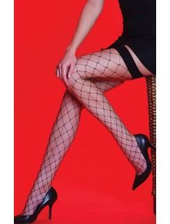 Silky Scarlet Whale Net Netzstrapsstrümpfe