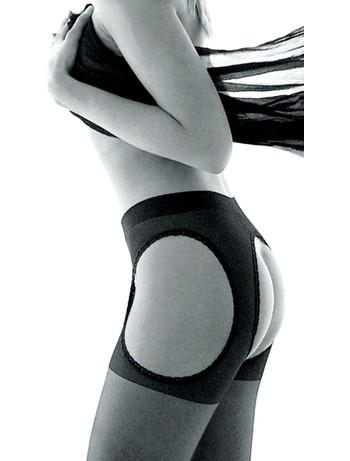 Trasparenze Strip Panty Strapsstrumpfhose schwarz