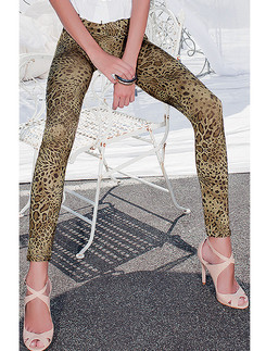 Trasparenze Spirit Satin Leopard Leggings